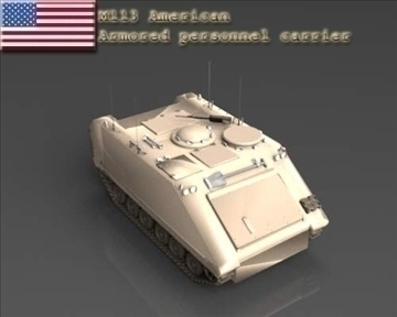 m113 armored personnel carrier 3d model 3ds max x lwo ma mb obj 101431