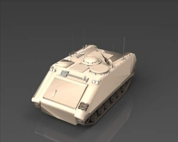 m113 armored personnel carrier 3d model 3ds max x lwo ma mb obj 101433