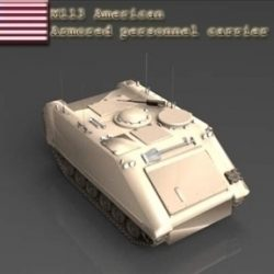 M113 armored personnel carrier ( 44.53KB jpg by WarArt )