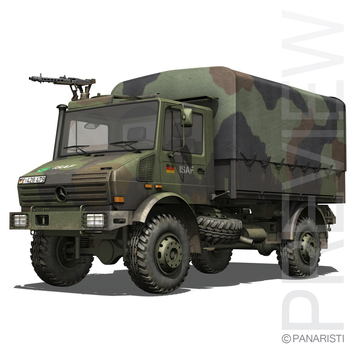 mercedes benz unimog u1300 german army 3d model 3ds c4d lwo obj 94260