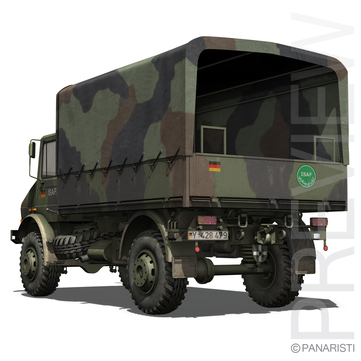 mercedes benz unimog u1300 german army 3d model 3ds c4d lwo obj 94262