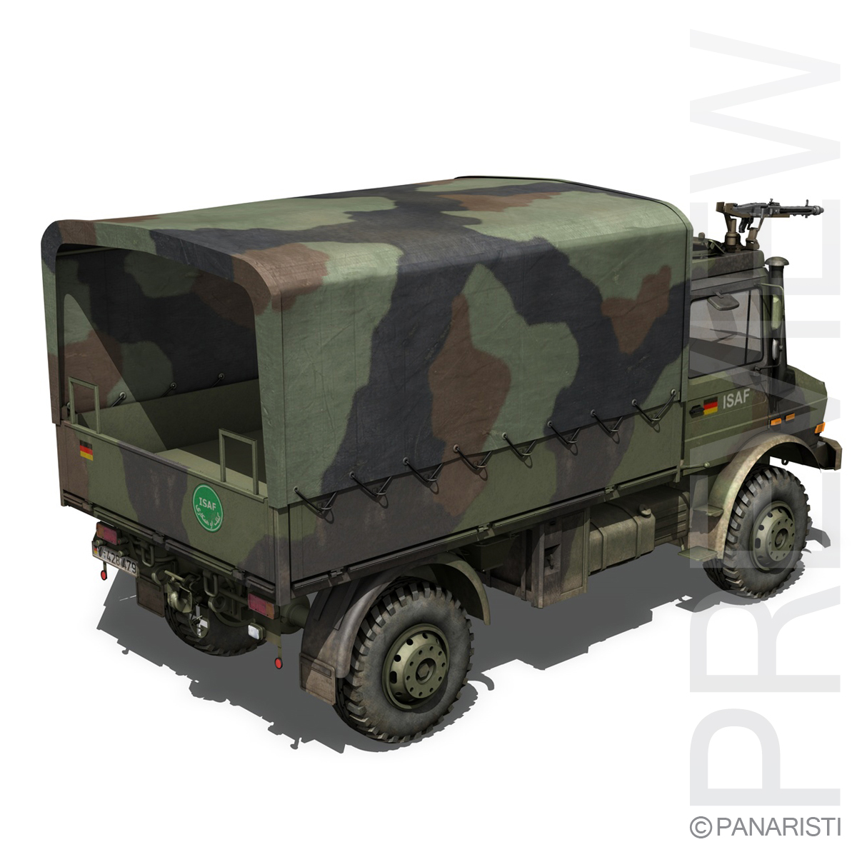 mercedes benz unimog u1300 german army 3d model 3ds c4d lwo obj 94263
