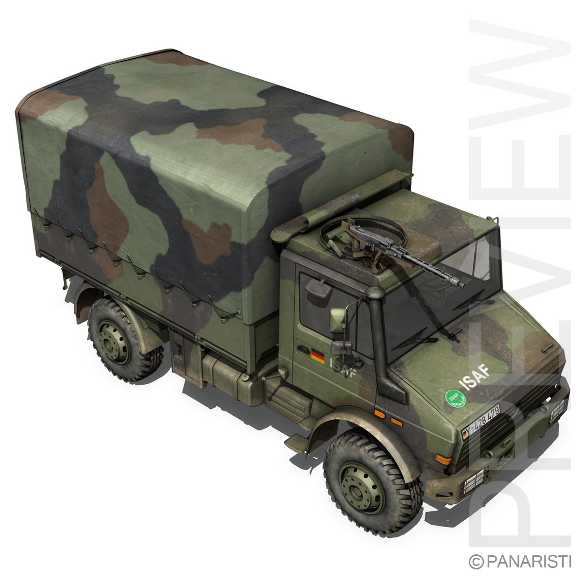 mercedes benz unimog u1300 german army 3d model 3ds c4d lwo obj 94264
