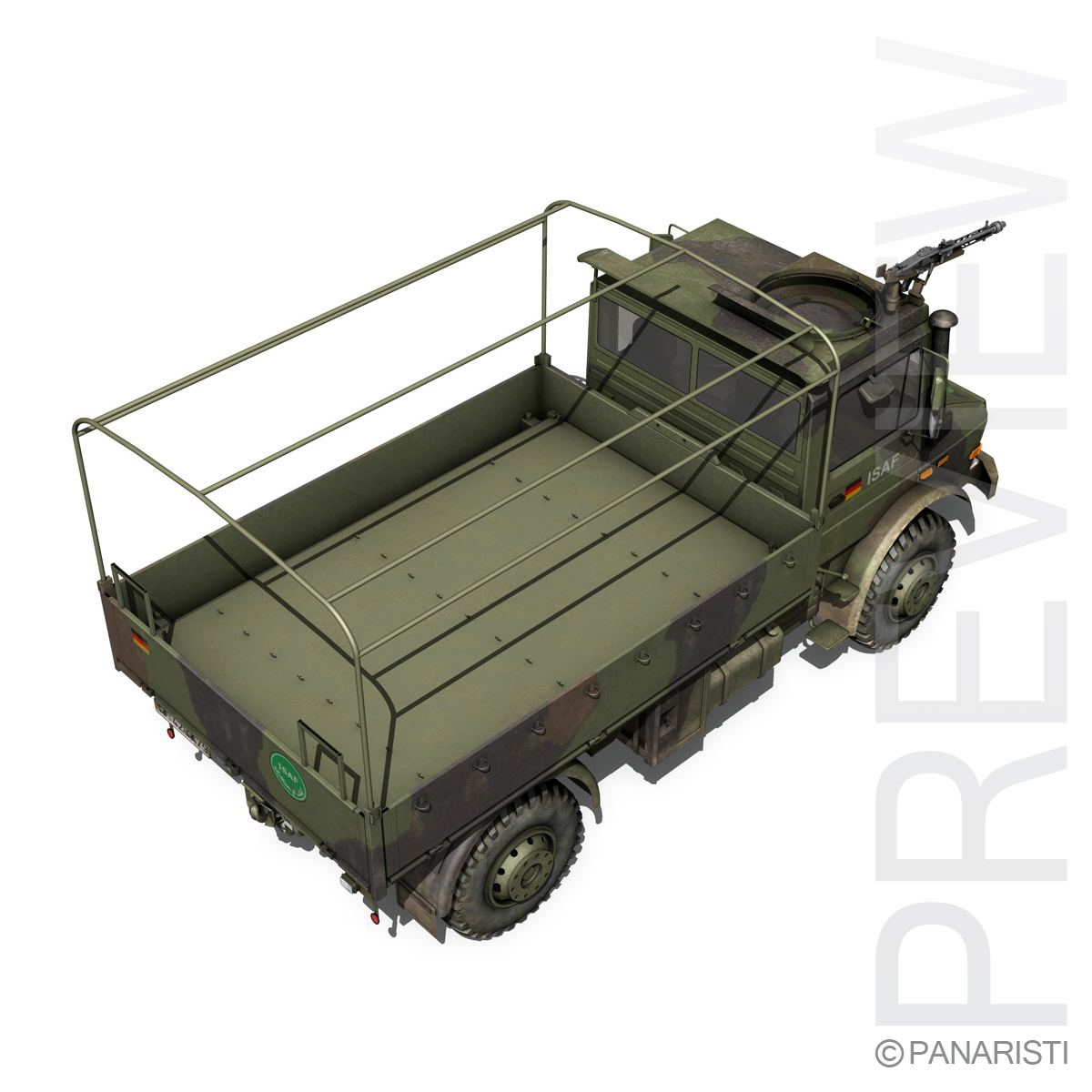 mercedes benz unimog u1300 german army 3d model 3ds c4d lwo obj 94265