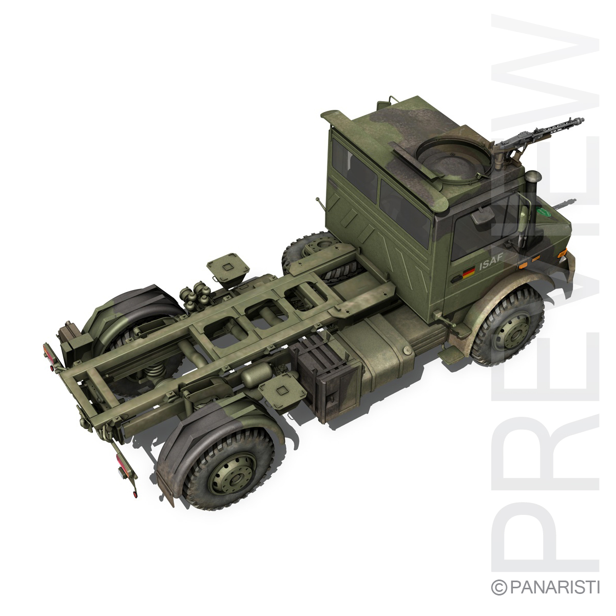 mercedes benz unimog u1300 german army 3d model 3ds c4d lwo obj 94266