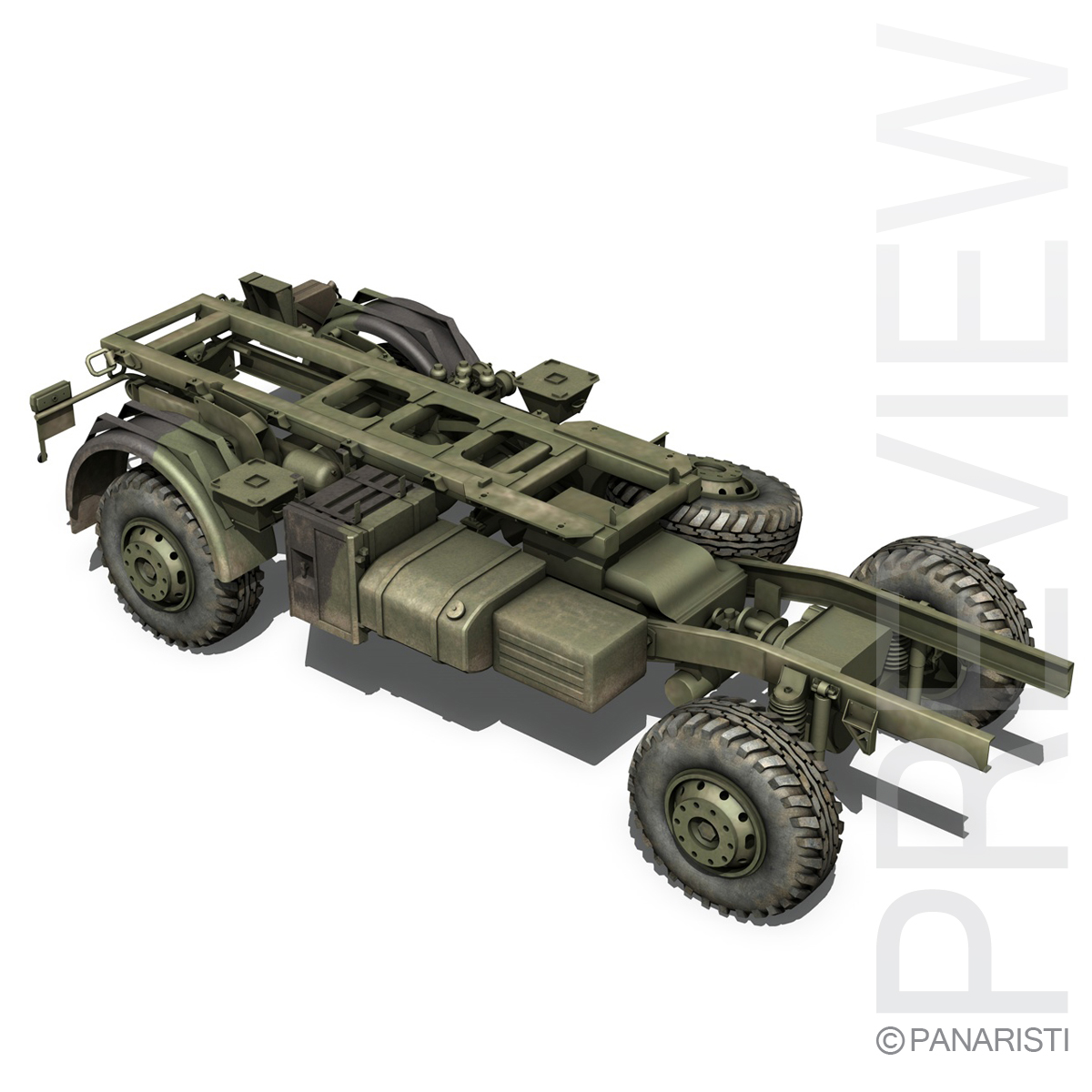mercedes benz unimog u1300 german army 3d model 3ds c4d lwo obj 94267