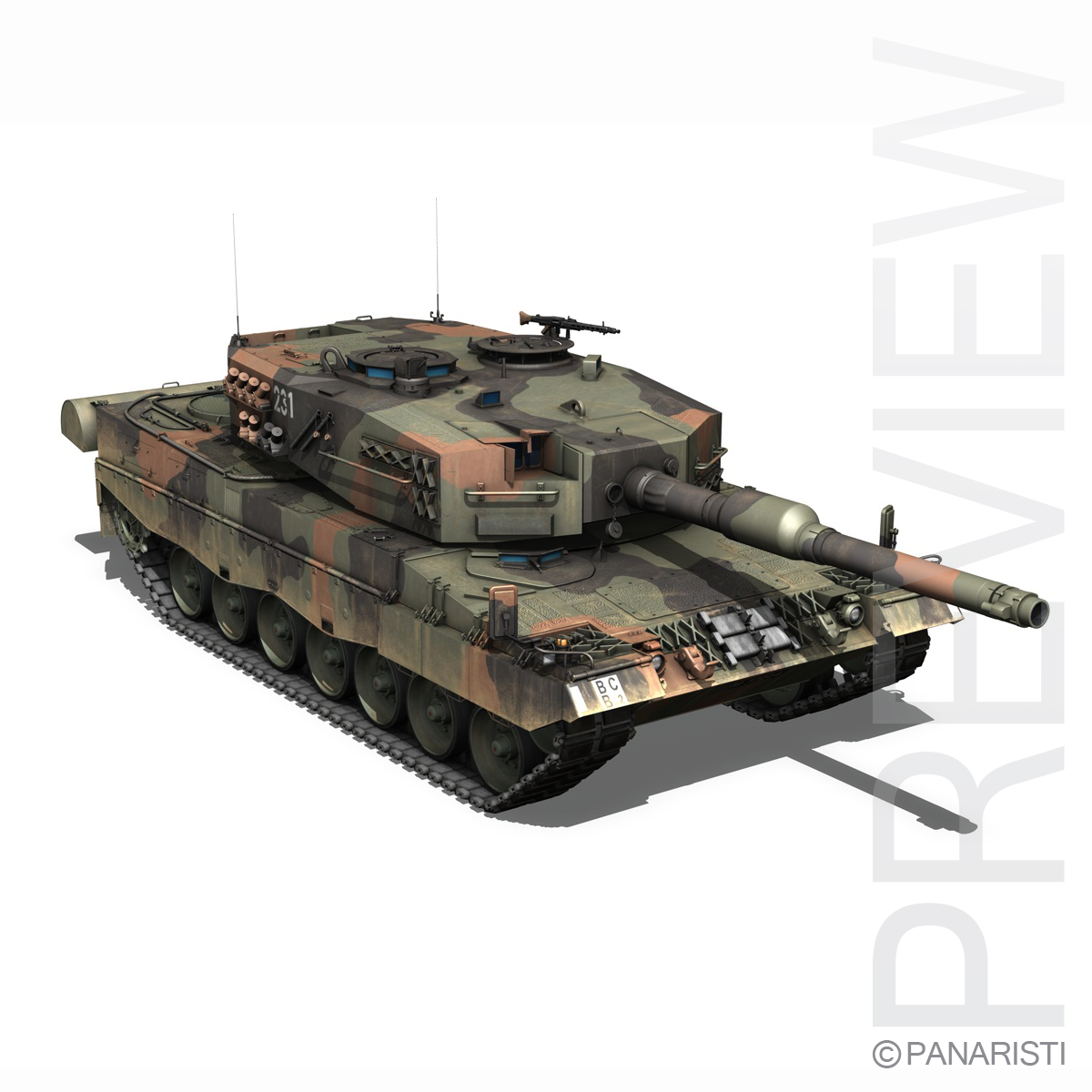 panzer 87 – swiss army 3d model 3ds c4d lwo texture obj 132936