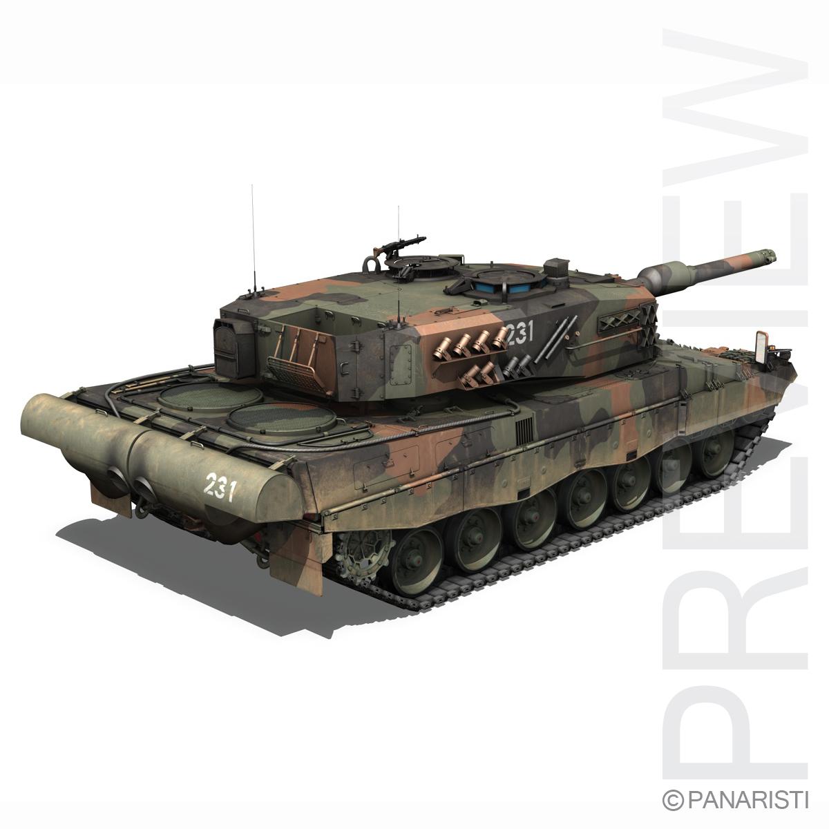 panzer 87 – swiss army 3d model 3ds c4d lwo texture obj 132937