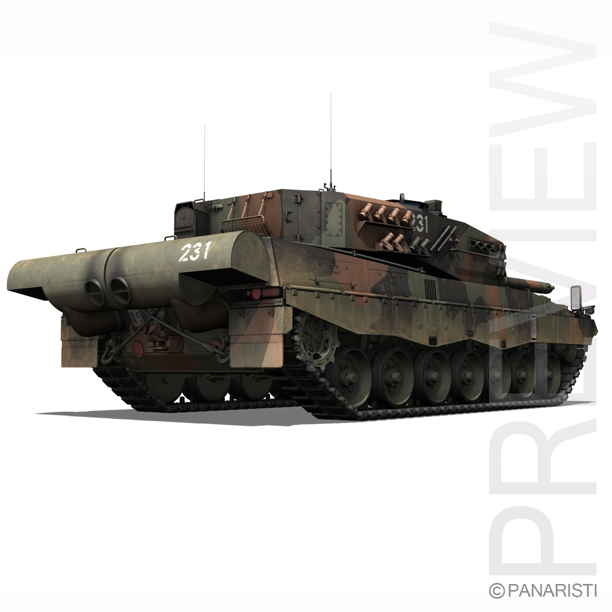 panzer 87 – swiss army 3d model 3ds c4d lwo texture obj 132938