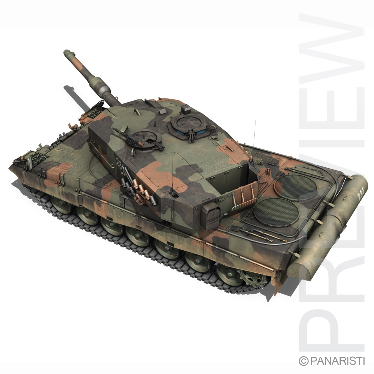 panzer 87 – swiss army 3d model 3ds c4d lwo texture obj 132940