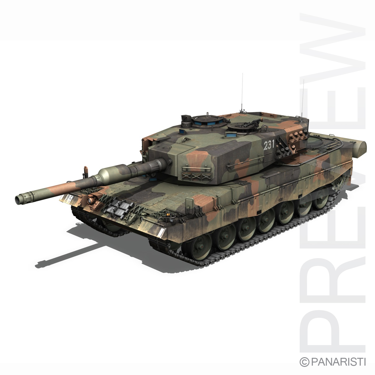 panzer 87 – swiss army 3d model 3ds c4d lwo texture obj 132941