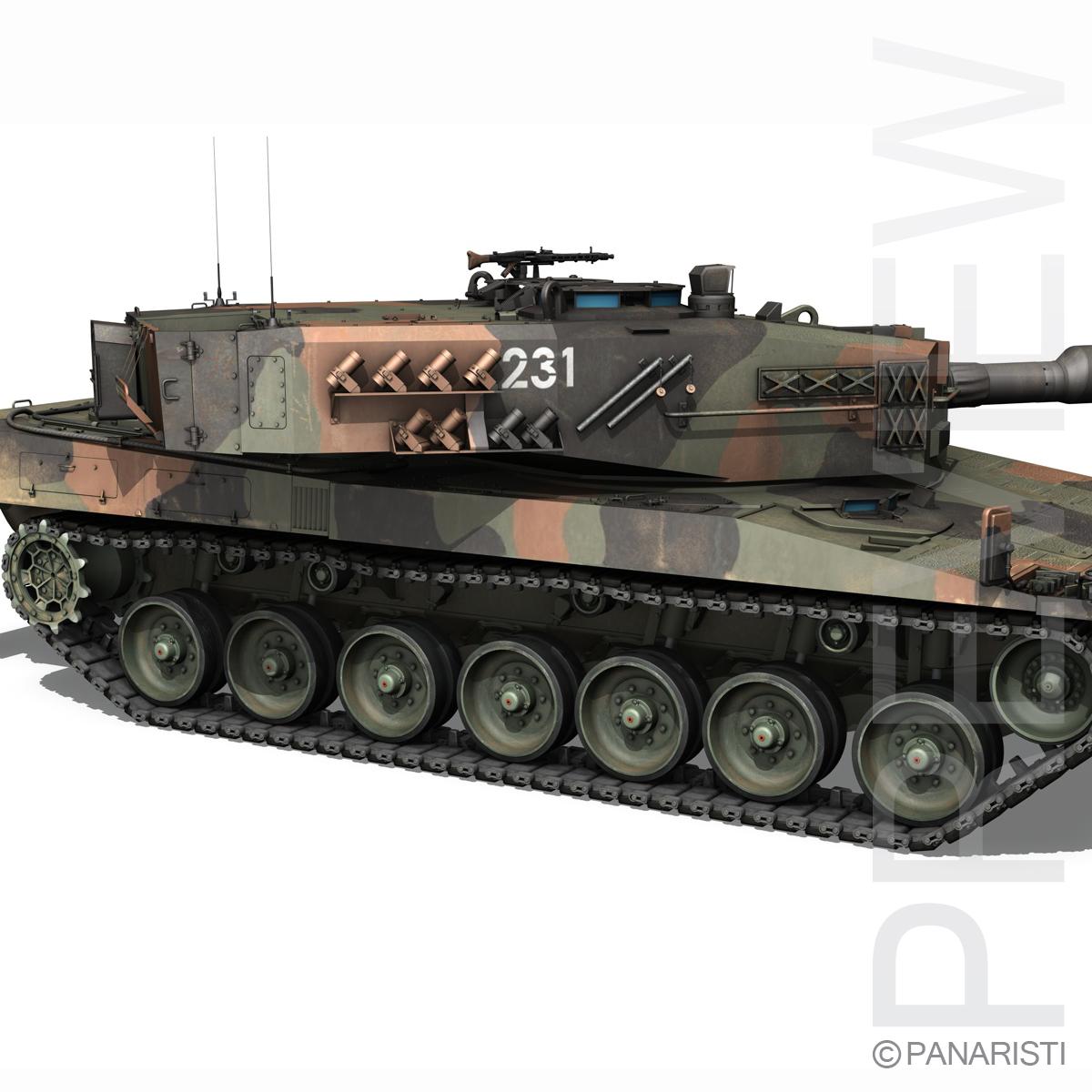 panzer 87 – swiss army 3d model 3ds c4d lwo texture obj 132942
