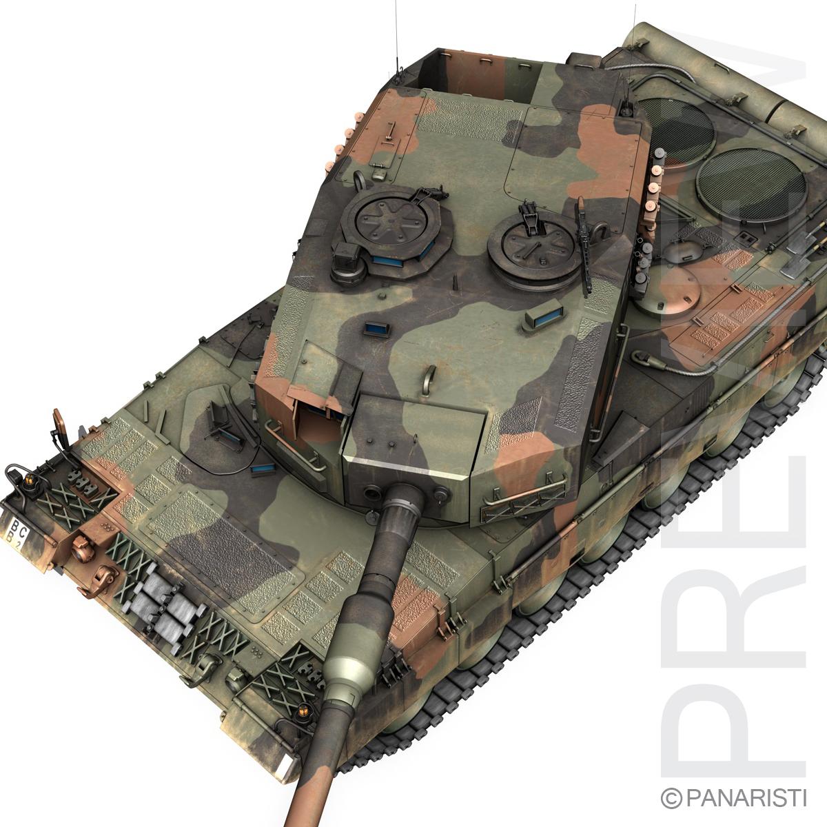 panzer 87 – swiss army 3d model 3ds c4d lwo texture obj 132943