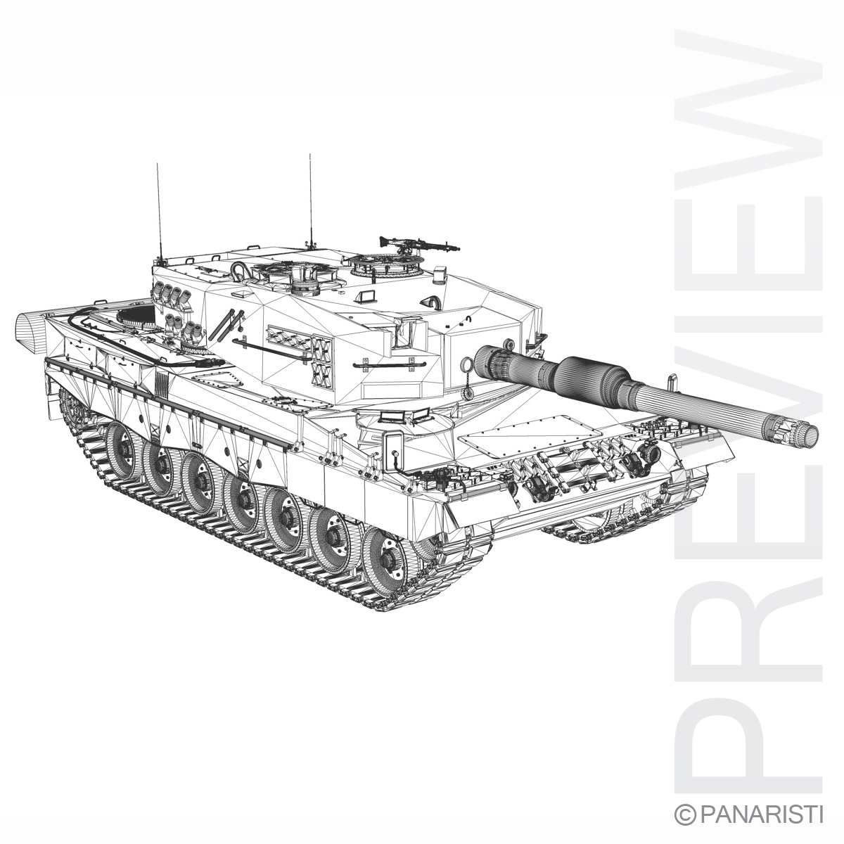 panzer 87 – swiss army 3d model 3ds c4d lwo texture obj 132944