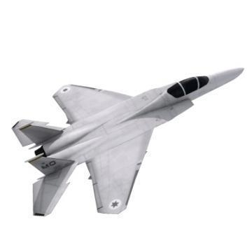 realistic lowpoly f-15e plane 3d model 3ds max obj 77198