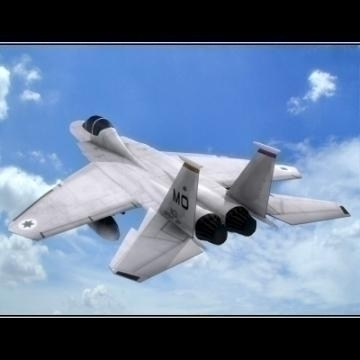 realistic lowpoly f-15e plane 3d model 3ds max obj 77200