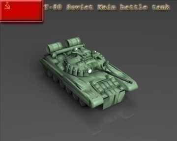 t 80 soviet main battle tank 3d model 3ds max x lwo ma mb obj 101370