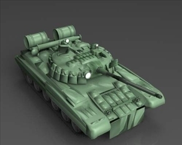 t 80 soviet main battle tank 3d model 3ds max x lwo ma mb obj 101373