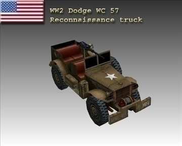 ww2 američki dodge wc 57 3d model 3ds max x lwo ma mb obj 104063