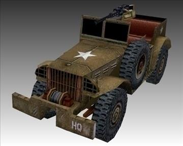 ww2 american dodge wc 57 3d model 3ds max x lwo ma mb obj 104067