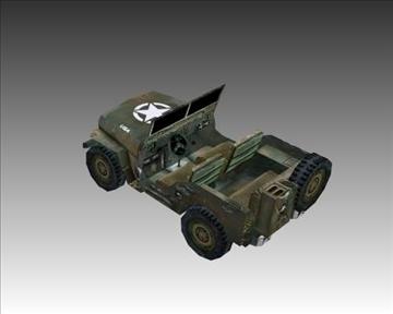 ww2 američki willys mb jeep 3d model 3ds max x lwo ma mb obj 111616