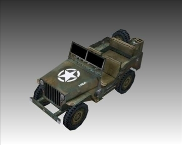 ww2 američki willys mb jeep 3d model 3ds max x lwo ma mb obj 111617