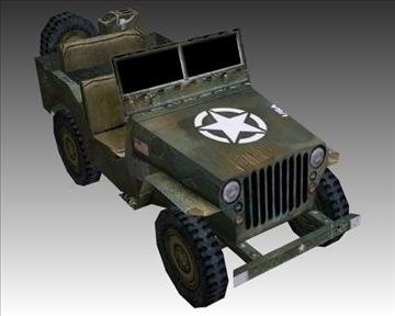 ww2 američki willys mb jeep 3d model 3ds max x lwo ma mb obj 111618