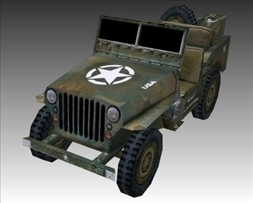 ww2 american willys mb jeep 3d model 3ds max x lwo ma mb obj 111619
