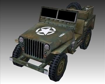ww2 američki willys mb jeep 3d model 3ds max x lwo ma mb obj 111619