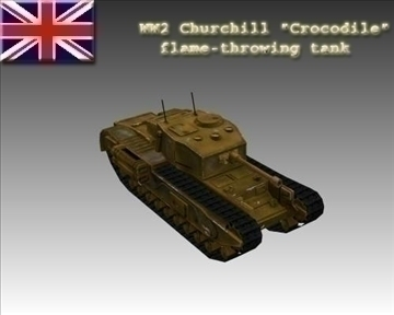 ww2 british churchill mk vii crocodile 3d model 3ds max x lwo ma mb obj 104382
