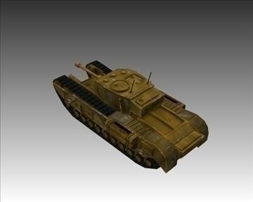 ww2 britanski churchill mk vii krokodil 3d model 3ds max x lwo ma mb obj 104383