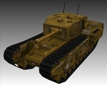ww2 britanski churchill mk vii krokodil 3d model 3ds max x lwo ma mb obj 104386