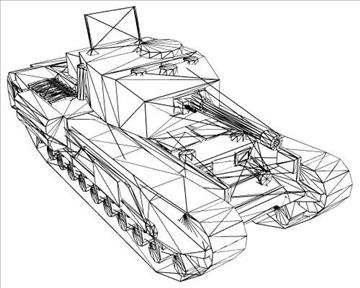 ww2 britanski churchill mk vii krokodil 3d model 3ds max x lwo ma mb obj 104387