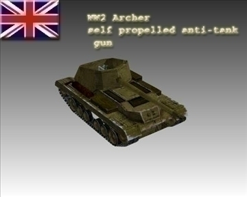ww2 britanski mk i archer 3d model 3ds max x lwo ma mb obj 104388