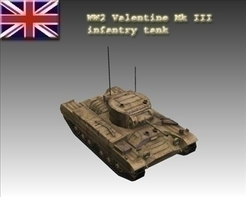 ww2 british valentine mk iii infantry tank 3d model 3ds max x lwo ma mb obj 104211