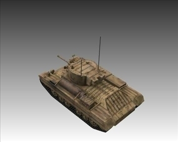 ww2 british valentine mk iii infantry tank 3d model 3ds max x lwo ma mb obj 104212