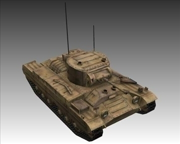 ww2 british valentine mk iii infantry tank 3d model 3ds max x lwo ma mb obj 104214