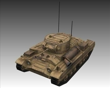 ww2 british valentine mk iii infantry tank 3d model 3ds max x lwo ma mb obj 104215
