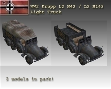 ww2 german krupp l2 3d model 3ds max x lwo ma mb obj 103941