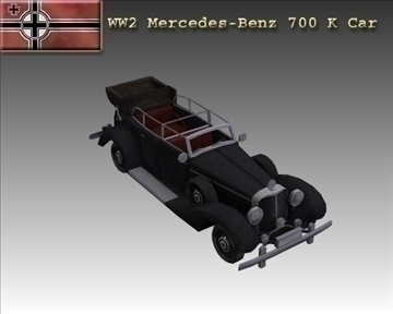 ww2 german mercedes benz 700 k 3d model 3ds max x lwo ma mb obj 104270