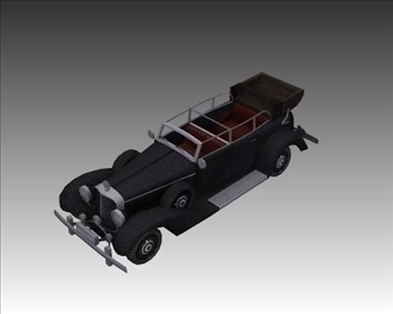 ww2 german mercedes benz 700 k 3d model 3ds max x lwo ma mb obj 104272