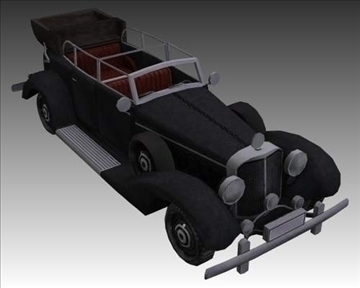 ww2 german mercedes benz 700 k 3d model 3ds max x lwo ma mb obj 104273