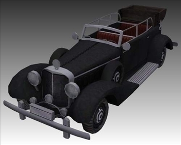 ww2 german mercedes benz 700 k 3d model 3ds max x lwo ma mb obj 104274