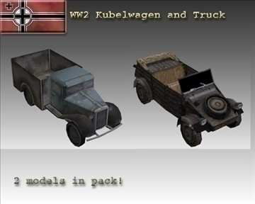 ww2 german military vehicles 3d model 3ds max x lwo ma mb obj 103951