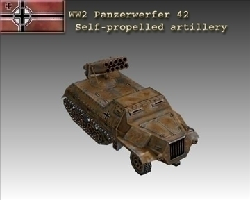 ww2 german panzerwerfer 42 3d model 3ds max x lwo ma mb obj 103857