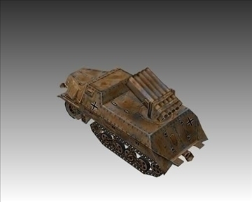 ww2 german panzerwerfer 42 3d model 3ds max x lwo ma mb obj 103858