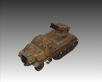 ww2 german panzerwerfer 42 3d model 3ds max x lwo ma mb obj 103859