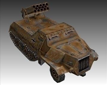 ww2 german panzerwerfer 42 3d model 3ds max x lwo ma mb obj 103860