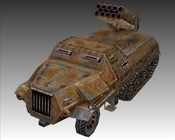 ww2 german panzerwerfer 42 3d model 3ds max x lwo ma mb obj 103861