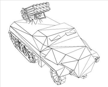 ww2 german panzerwerfer 42 3d model 3ds max x lwo ma mb obj 103862